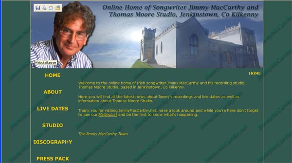 JimmyMacCarthy.net Screenshot