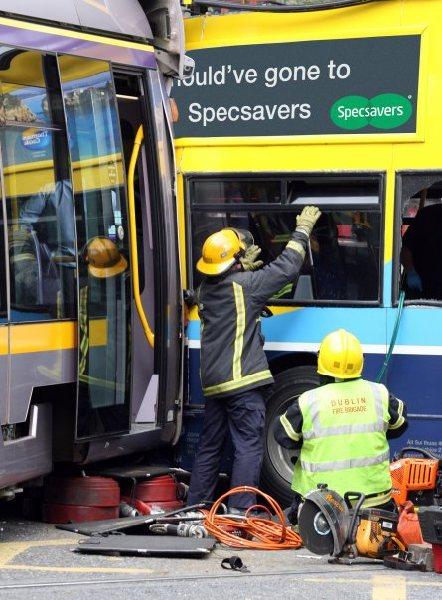 luas and bus crash