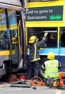 luas and bus crash
