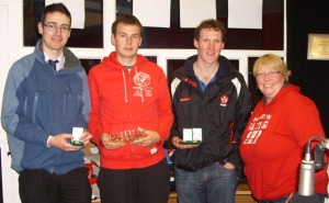 DCU's World Champion Handballers with DCU Handball Chairman Brian O'Sullivan and Nessy